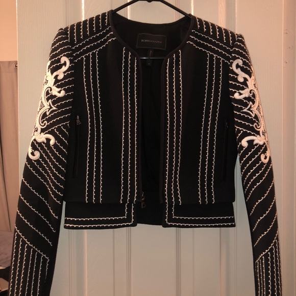 8b4896048d BCBGMaxAzria Jackets & Coats | Bcbg Max Azria Embroidered Jacket ...